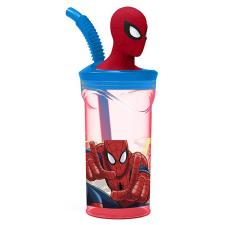 Spiderman 3D Figurine Tumbler with Straw