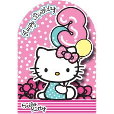 3rd Birthday 3D Stand Up Hello Kitty Birthday Card