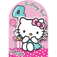 4th Birthday 3D Stand Up Hello Kitty Birthday Card