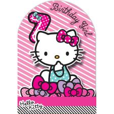 7th Birthday 3D Stand Up Hello Kitty Birthday Card