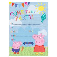 Peppa Pig Invitations with Envelopes Pack of 20