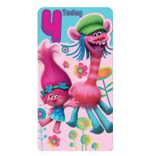 4 Today 4th Birthday Trolls Card