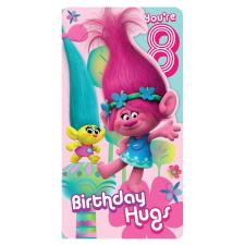 8th Birthday Trolls Card