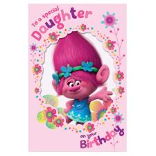 Daughter Birthday Trolls Card