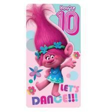 Trolls 10th Birthday Card