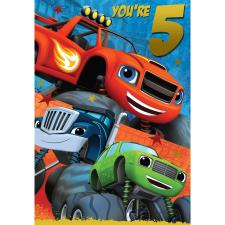 5th Birthday Blaze & The Monster Machines Card