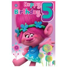 5th Birthday Trolls Birthday Card