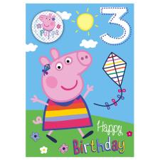 3rd Birthday Peppa Pig Badged Birthday Card