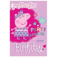 Granddaughter Peppa Pig Birthday Card with Badge