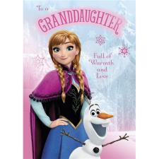 Granddaughter Birthday Disney Frozen Birthday Card
