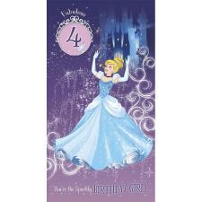 4th Birthday Cinderella Disney Princess Birthday Card