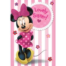 Lovely Sister Disney Minnie Mouse Birthday Card