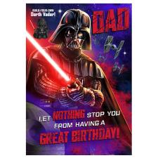 Star Wars Dad Darth Vader Birthday Card