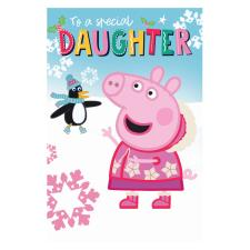 Special Daughter Peppa Pig Christmas Card