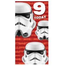 Star Wars Storm Trooper 9th Birthday Card