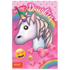 Emoji Unicorn Daughter Birthday Card