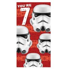 Star Wars Storm Trooper 7th Birthday Card
