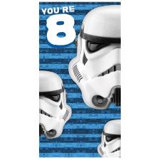 Star Wars Storm Trooper 8th Birthday Card