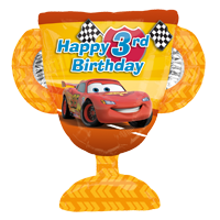 Disney Cars 3rd Birthday Balloon Bouquet