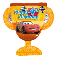 Disney Cars 4th Birthday Balloon Bouquet