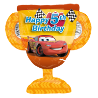 Disney Cars 5th Birthday Balloon Bouquet