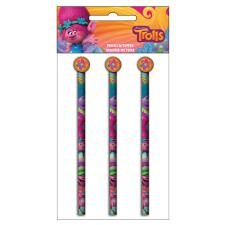 Trolls Pencils With Toppers Set of 3 …