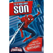 Brilliant Son Spiderman Pop Up Birthday Card