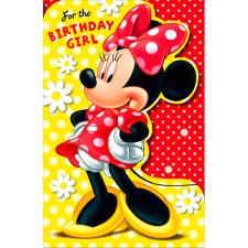 Birthday Girl Minnie Mouse Birthday Card