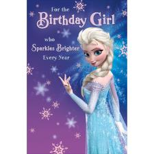 Birthday Girl Disney Frozen Elsa Birthday Card