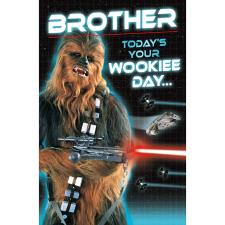 Brother Wookiee Star Wars Birthday Card