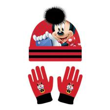 Minnie Mouse Red & Black Bobble Hat & Gloves Set