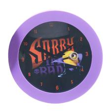 Sorry Im Bad Minions Dracula Wall Clock
