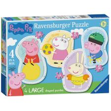 Peppa Pig 4 In A Box Shaped Jigsaw Puzzles