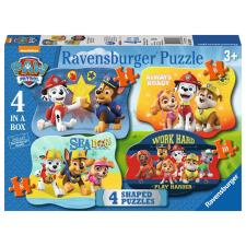 Paw Patrol 4 In A Box Shaped Jigsaw Puzzles
