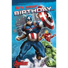 Its Your Birthday Marvel Avengers Pop Up Birthday Card