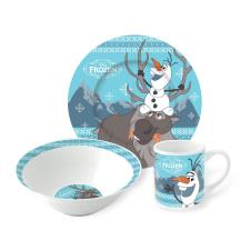 Disney Frozen Olaf & Sven Ceramic 3 Piece Breakfast Set