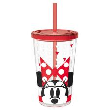 Minnie Mouse 470ml Clear Tumbler with Straw
