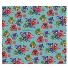 PJ Masks 2m Turquoise Roll Wrap