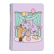 Pusheen Party Scene A5 Spiral Notebook