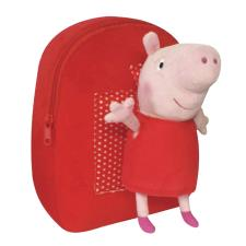 Peppa Pig Red Backpack With Plush Toy
