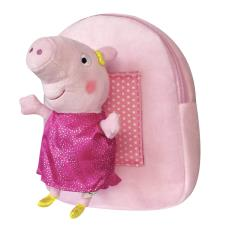 Peppa Pig Pink Backpack With Plush Toy