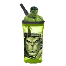 Marvel Incredible Hulk 3D Figurine Tumbler with Straw