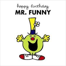 3D Holographic Mr Funny Mr Men Birthday Card
