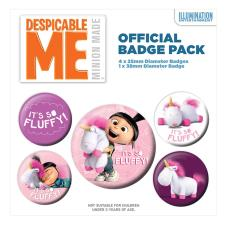 Despicable Me Its So Fluffy Unicorn Badge Pack