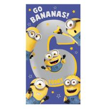6 Today Minions 6th Birthday Card