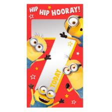 7 Today 7th Birthday Minions Card