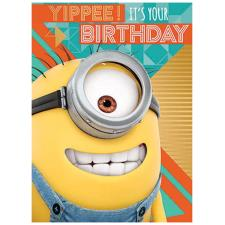 Despicable Me 3 Minions Yippee! It's Your Birthday Card