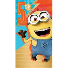 5 Today Despicable Me Minions 5th Birthday Card