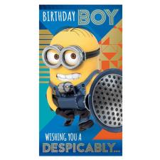 Birthday Boy Despicable Me Minions Birthday Card