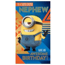 Nephew Depicable Me 3 Minions  Birthday Card